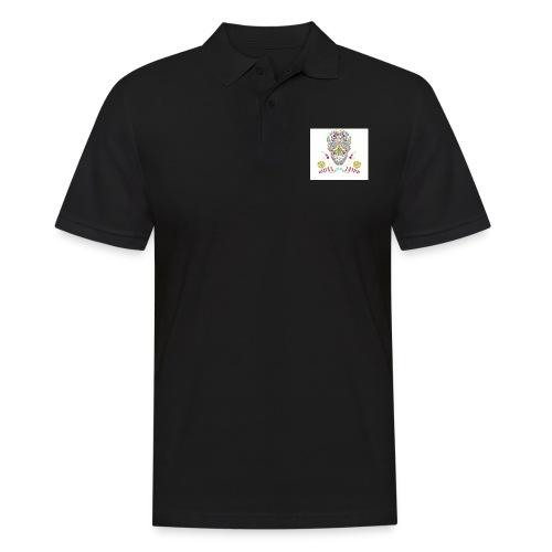 Bunter Totenkopf - Männer Poloshirt