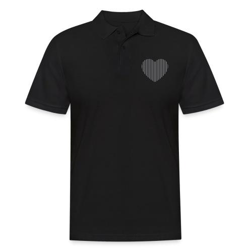 heart_striped.png - Men's Polo Shirt