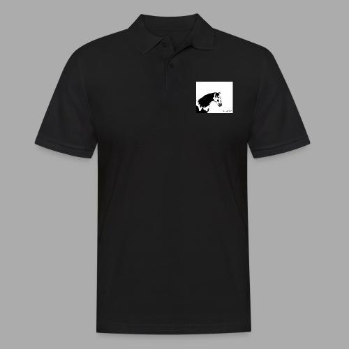Pferdekopf mit Unterschrift - Männer Poloshirt