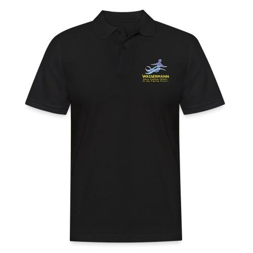 Wassermann 3 farbig - Männer Poloshirt