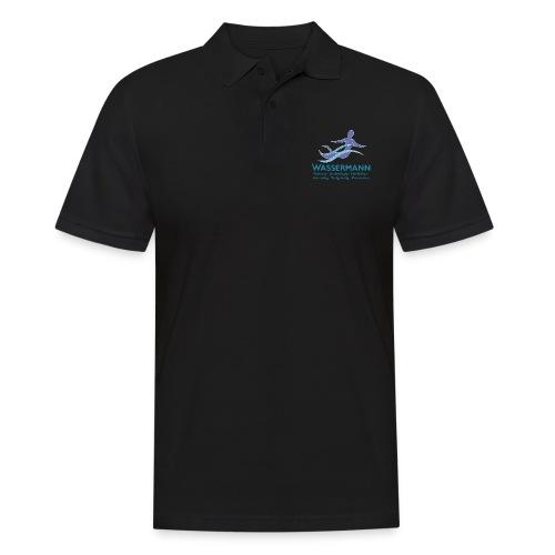 Wassermann 3 farbig Konturen weissDunkel - Männer Poloshirt