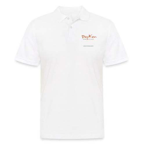 popkonlogoorangesilver - Männer Poloshirt