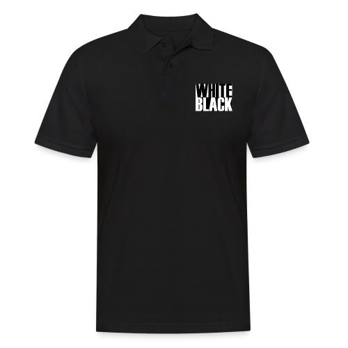 White, Black T-shirt - Mannen poloshirt