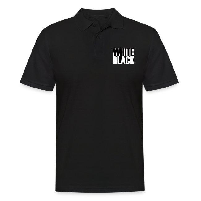 White, Black T-shirt