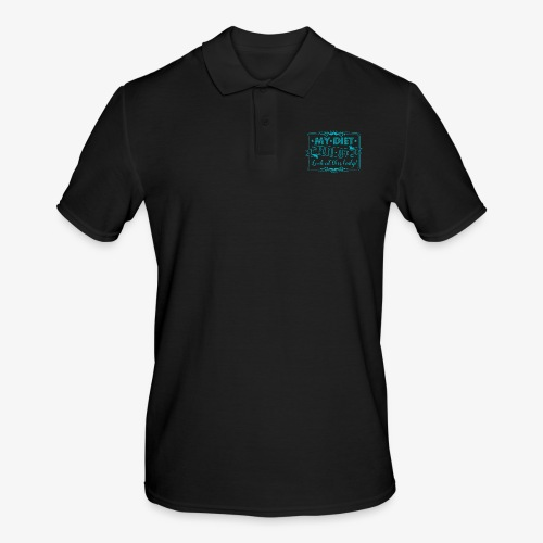 Handlettering My diet paid off (Turqoise) - Mannen poloshirt