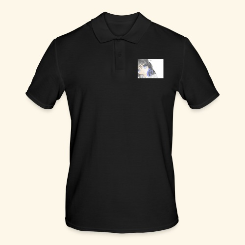 Anime Girl with Headphones - Men's Polo Shirt