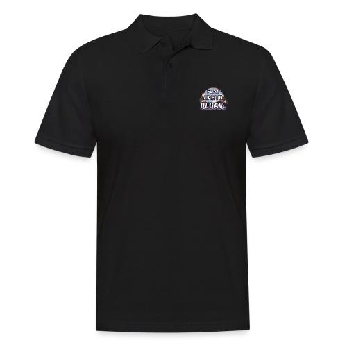 Flat Earth Debate Solid - Men's Polo Shirt