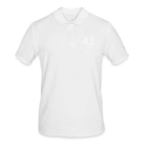 The Answer is 42 White - Men's Polo Shirt