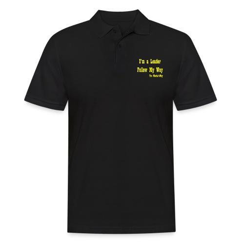 Follow My Way Yellow - Koszulka polo męska