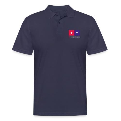 Conversionator mit Plus & Pfeil - Männer Poloshirt