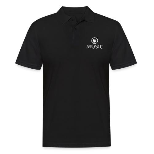 logo bashk music e bardhe - Men's Polo Shirt