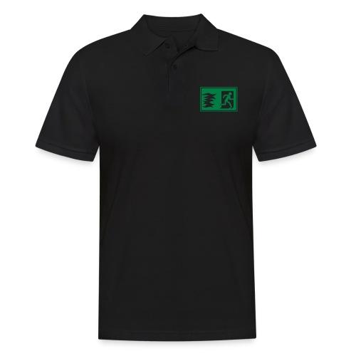 Notausgang / Feueralarm Symbol - Männer Poloshirt