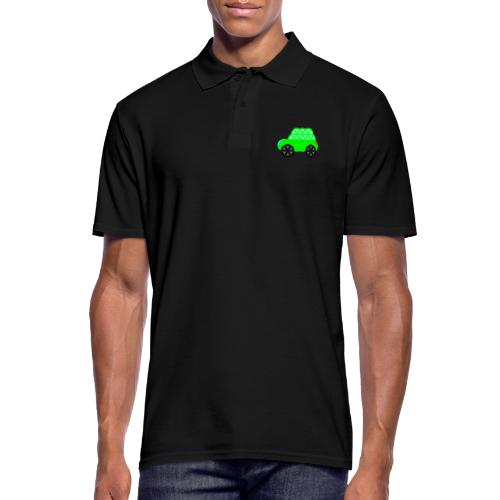 The Car Of Life - M01, Sacred Shapes, Green/R01. - Men's Polo Shirt