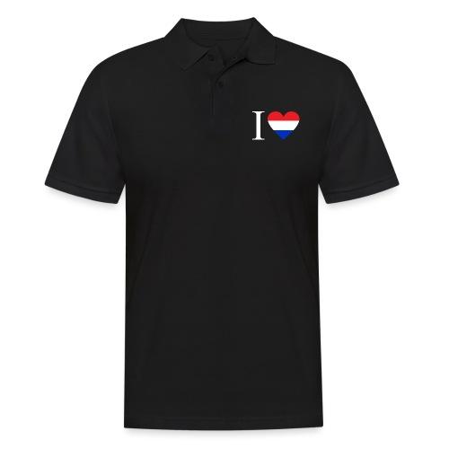 Ik hou van Nederland | Hart met rood wit blauw - Mannen poloshirt