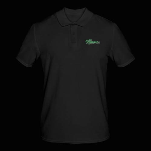 No Remorse Title With Weed No Background - Men's Polo Shirt