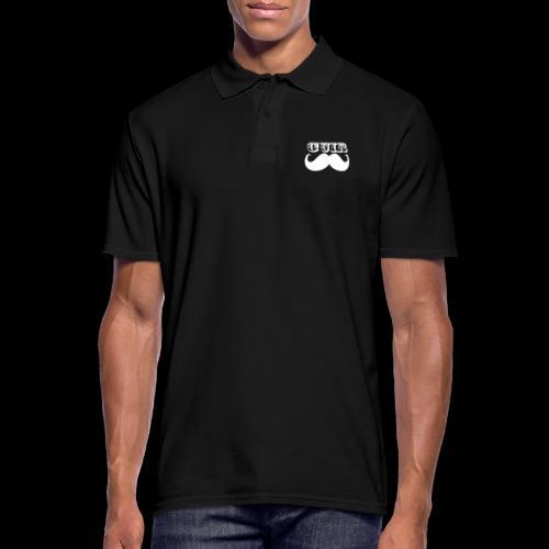 Cuir Moustache - Logo Blanc - Men's Polo Shirt
