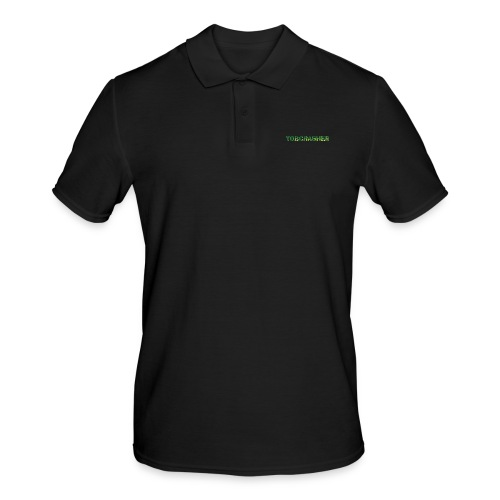 Tshirt Green triangles big - Männer Poloshirt