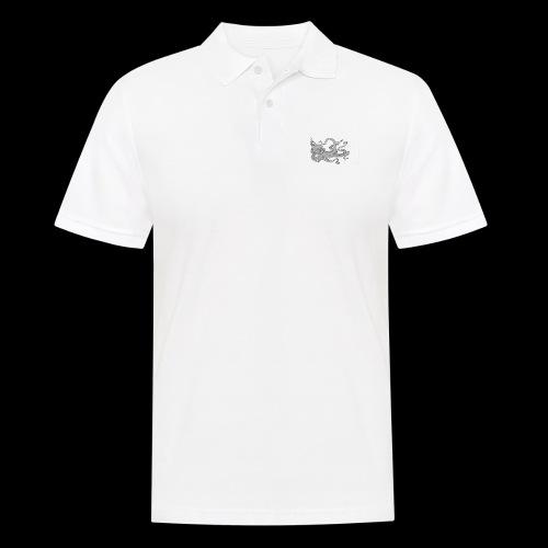 OctoApparel Logo weiss - Männer Poloshirt