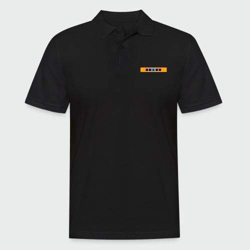 Flolo Schriftzug orange - Männer Poloshirt