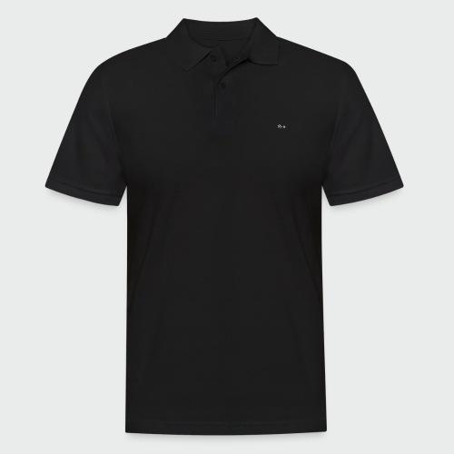 flolo durchgestrichen in weiß - Männer Poloshirt