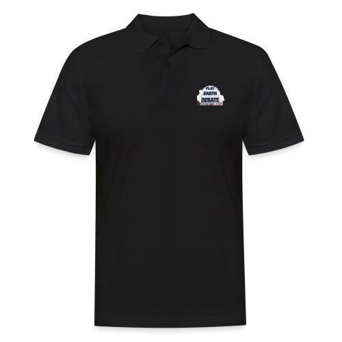 Flat Earth Debate Cartoon - Men's Polo Shirt