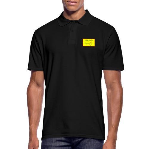 hello, I am the sound girl - yellow sign - Men's Polo Shirt