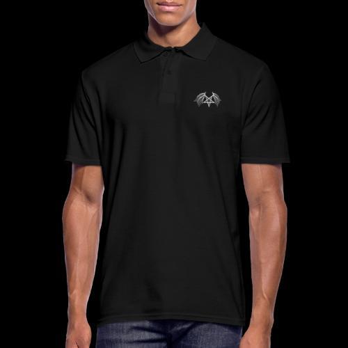 flügelpentagrammitstrukturhellgrau.png - Männer Poloshirt