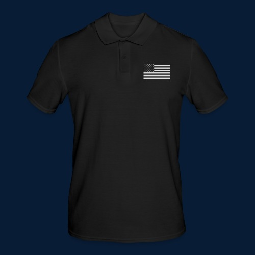 Stars and Stripes White - Männer Poloshirt