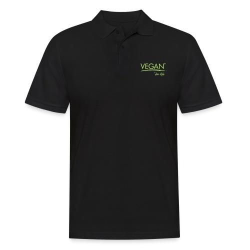 vegan for life 1c - Männer Poloshirt