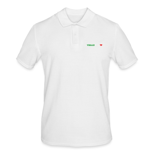 be my VEGANtine - white - Men's Polo Shirt
