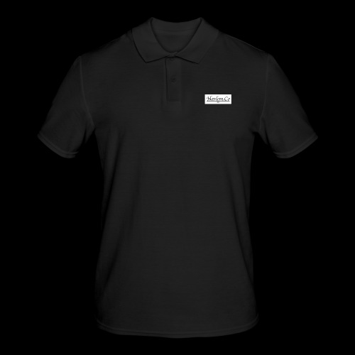 Harlem Co logo White and Black - Men's Polo Shirt