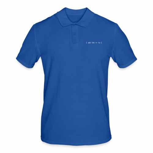I add the ++ to C - Men's Polo Shirt