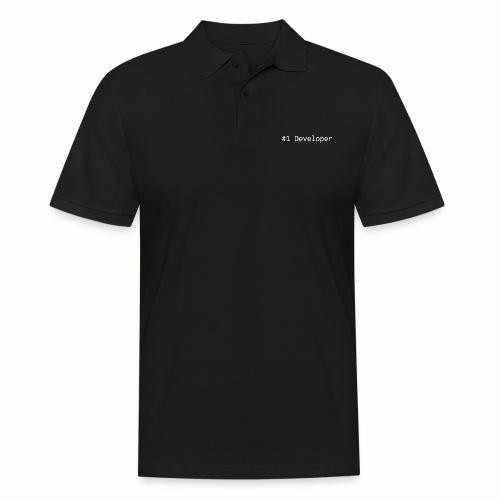 #1 Developer - White - Men's Polo Shirt