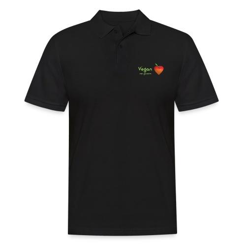 Vegan von ganzem Herzen (rot) - Männer Poloshirt
