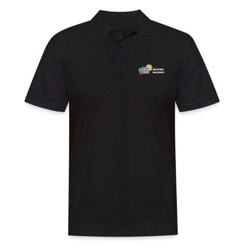 Philippinen-Blog Logo english orange/weiss - Männer Poloshirt