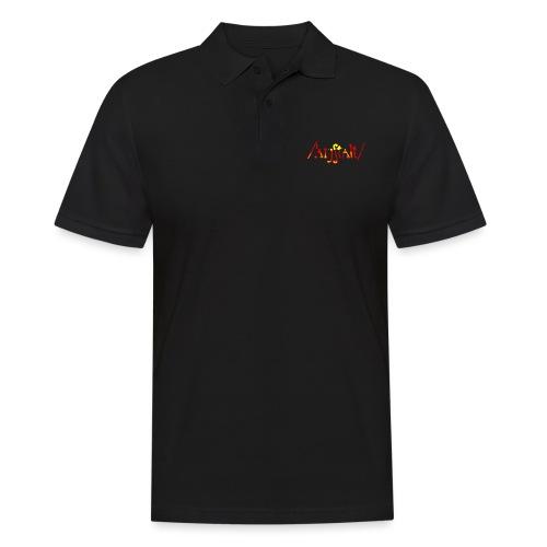 /'angstalt/ logo gerastert (flamme) - Männer Poloshirt