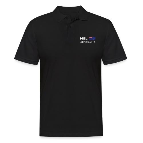 MEL AUSTRALIA white-lettered 400 dpi - Men's Polo Shirt