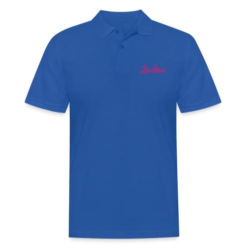 Logo-Roze - Mannen poloshirt
