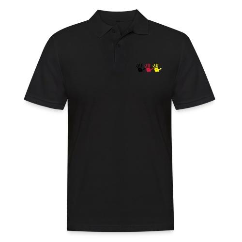 Handabdruck Trio - Männer Poloshirt