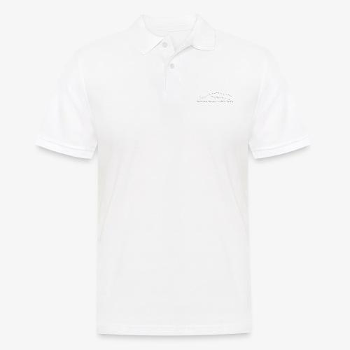 SUP logo valkea - Miesten pikeepaita