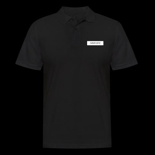 ARNTASTIC balken weiss - Männer Poloshirt