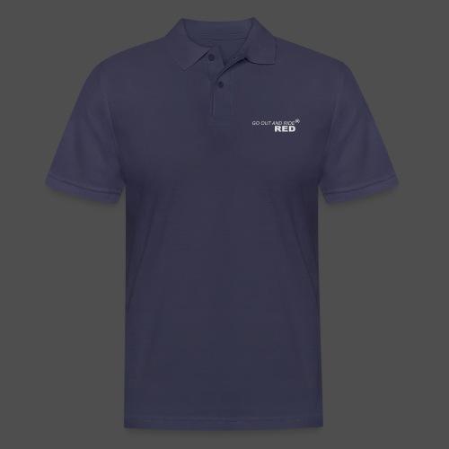 jeździć czerwonym - Koszulka polo męska