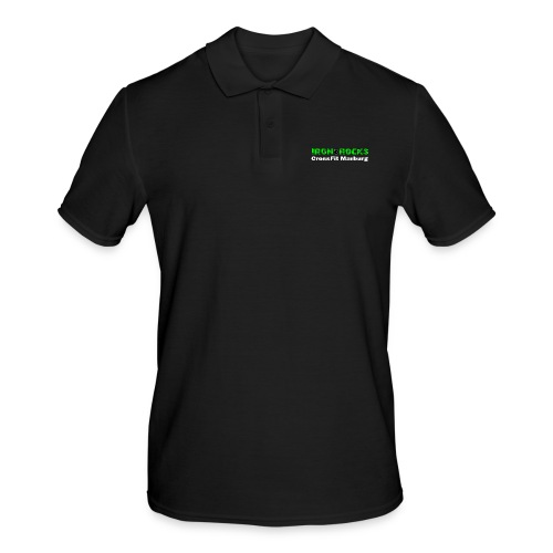 Schriftzug lang - Männer Poloshirt