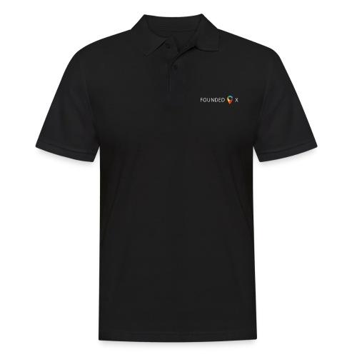 FoundedX logo white png - Men's Polo Shirt