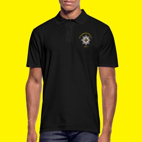 Gelbe Schrift - Männer Poloshirt