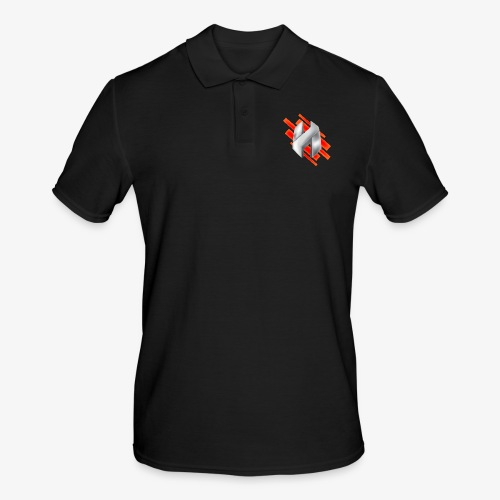 Abstract Red - Men's Polo Shirt