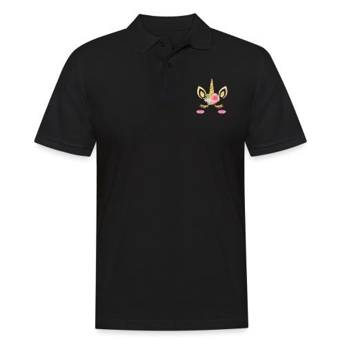 unicorn face - Männer Poloshirt
