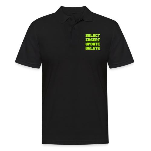 SQL pixelart black - Männer Poloshirt