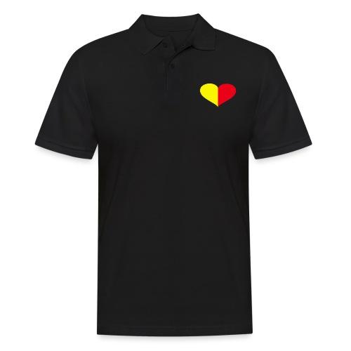 cuore giallorosso pieno - Polo da uomo
