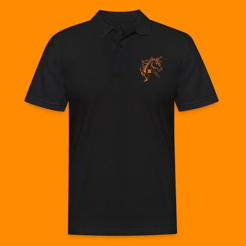 orange biodusty unicorn shirt - Mannen poloshirt